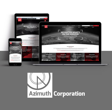 Government Contractor web design for Azimuth