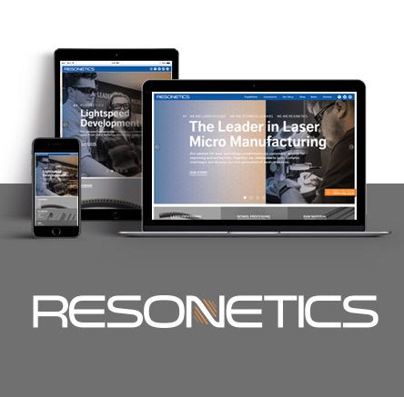 Manufacturing web design for Resonetics