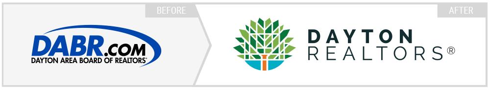 Dayton Realtors before and after logo design