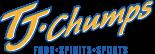 TJ Chumps food spirits and sports logo